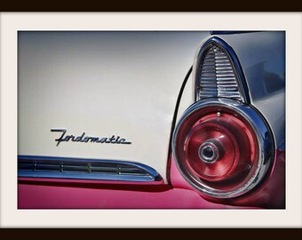 Classic Car Photography Hot Rod Art Ford Fairlane 1950s Wall Diner