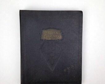 1930s Kodak Library Photo Album Vintage Leather Photo Album Book Old Blank Album Antique MLX Kodak Leather Photo Album