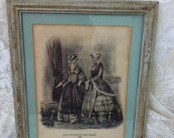 Godey's Framed Picture, Godeys Fashion, Victorian art, victorian fashion,