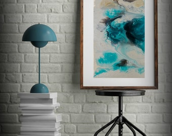 Zen Painting Watercolor Painting Office Art Print Abstract Painting Contemporary Art Abstract Painting Large Wall Art Bathroom Decor