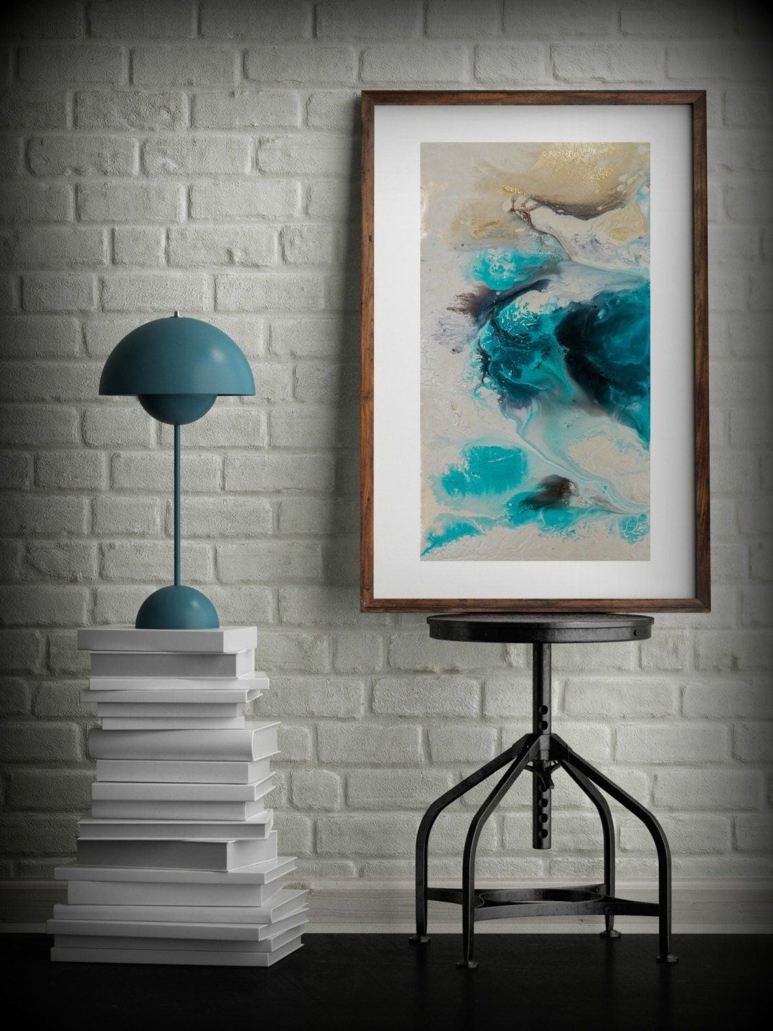 Zen Painting Watercolor Painting Office Art Print Abstract