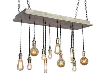 Urban Chandelier   Industrial Lighting  Beach House Light Fixture  Rustic  Lighting  Bare BulbIndustrial Chandelier Rustic Lighting Modern Chandelier. Rustic Lighting Dining Room. Home Design Ideas