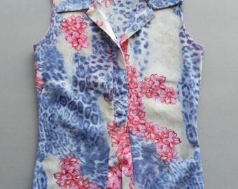 undershirt / cheetah floral / camisole