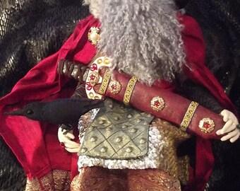 Odin, a OOAK cloth art doll