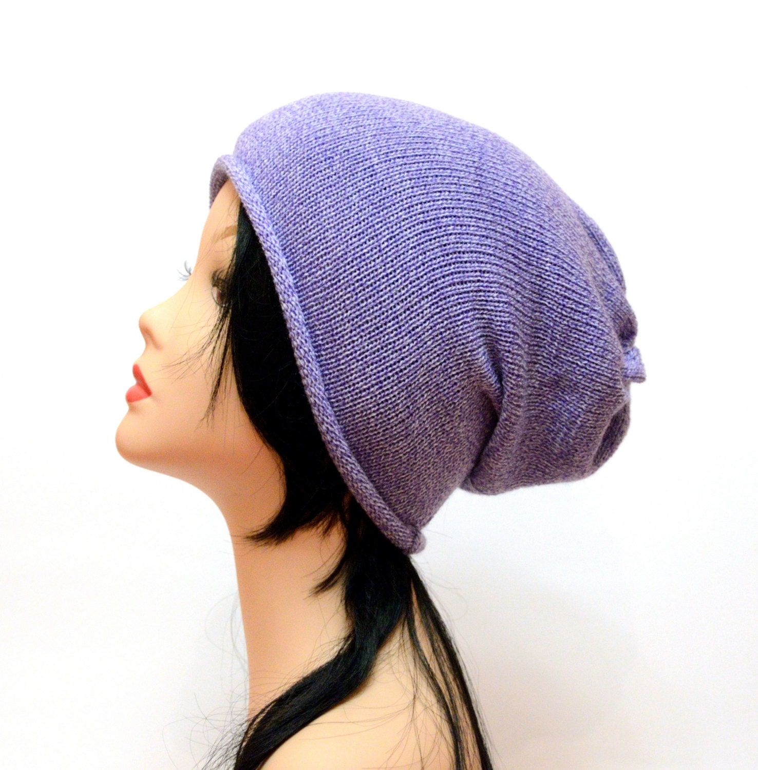 lavender beanie hat womens beanie knit hat by