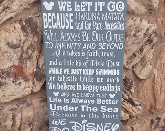 In This House Disney Sign, Disney Wood Sign, Disney House, Disney Decor, Disney Sign