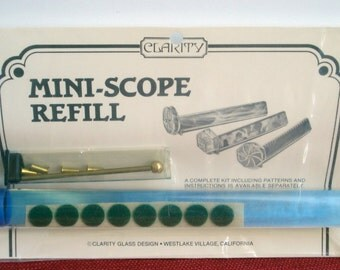 Mini-Scope REFILL Kit for Kaleidoscope Craft Project - Supply Item - Refill ONLY by Clarity Glass Design