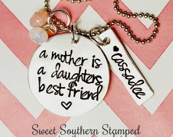 A Mother is a Daughter's Best Friend- Gift for Her Mother's Day Gift
