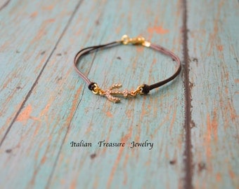 Anchor bracelet. Friendship bracelet. Beach jewelry. Gift for her. Beach bracelet.