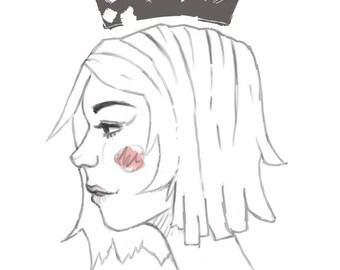 Queen print 13x19