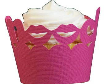 Taffy Pink Smooch Cupcake Wrappers, 12pcs
