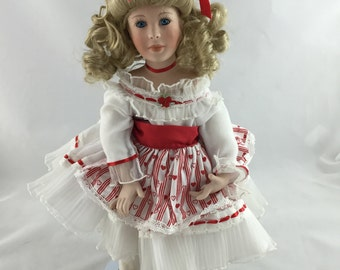 Vintage Dynasty Doll Collection Porcelain Doll, Patricia Rose, Musical Doll