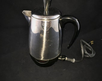 Vintage Farberware 8 Cup Superfast Fully Automatic Electric Coffee Percolator