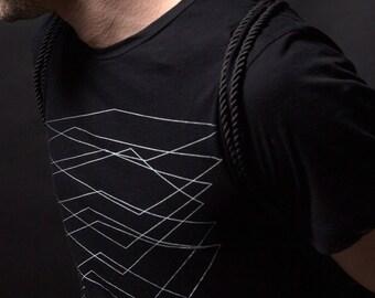 Black Tee / Black tshirt / Mens tshirts / Mens black Tee / graphic tee printed black tshirt