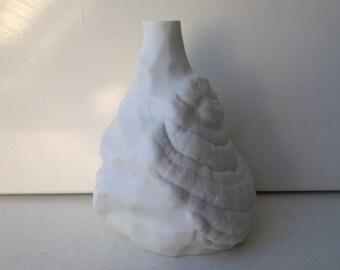 Hutschenreuther, Op Art Vase, Bisque Porcelain Vase, Nr 6286, West German Pottery, 1971