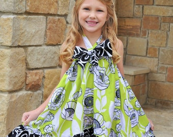 Maggie Bow Dress sizes 3months to - 12 years Pdf Pattern all sizes included