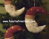 Crescent Moon Santa Ornament - Epattern/Instant Download