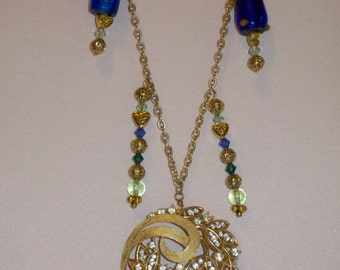 Gold, Rhinestones and Blue