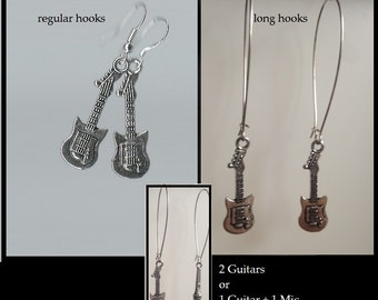 Rock Guitar Earrings