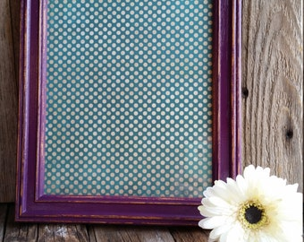 Plum 8x10 Distressed Frame