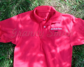 Halloween Jake from State Farm Costume / Embroidered Red shirt (Khakis not included) In 18 sizes! ONSIES!!! Adult S-6XL & Child XS-XL!!!