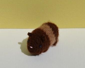 Brown Crochet hamster - brown stuffed hamster - brown hamster