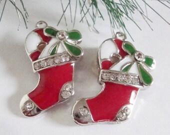 Christmas Red Stocking Charm
