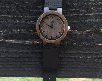 Mens Dark Ebony Wood Watch With Custom Engraving, Wooden Watch for Men, Gift for Him, Mens Wood Watch, Personalized Wood Watch, Wedding Gift