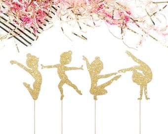 Gymnast Cake Topper for Gymnastics Themed Birthday Party - Dancer Cake Topper - Ballet Cake Topper