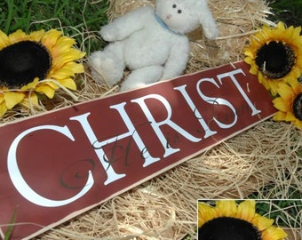 Easter Sign - Christ, he is risen! Custom Easter decor