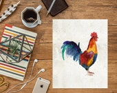 Rooster Printable Art Print 8x10 Kitchen Decor, Kitchen Print, Good Morning Rooster Print, Chicken Printable, Country Home Decor