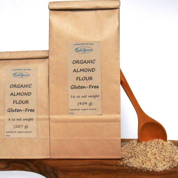 ORGANIC Almond flour unblanched gluten free certified 8 oz