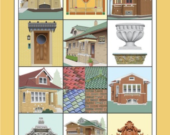 Chicago Bungalow Art Poster