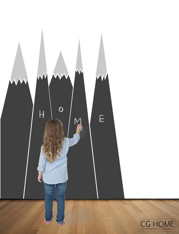 chalkboard scandinavian MOUNTAIN pattern mountain view Kids Room Design Blackboard Chalkboard Wall Decal vinyl sticker CGhome