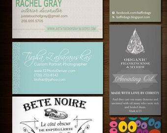 Custom Business Card Design - Custom Size and specialty printing design - Spot UV - Square - etc.