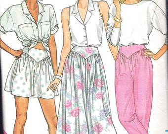 Butterick 3773 Misses Skirt, Coulottes and Pants Sewing Pattern Sizes  12, 14, 16