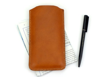 iPhone SE Sleeve Leather, iPhone 5S Sleeve, iPhone 5S Leather Case, iPhone SE Leather Sleeve, iPhone SE Leather Cases Tan / Light Brown