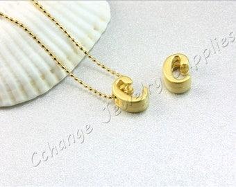 C Gold Letters, 2 pcs Gold Lowercase Letters, Matte Gold Alphabet Letter, 24K Gold Plated Letter, Lowercase Alphabet Letters, Gold Letters