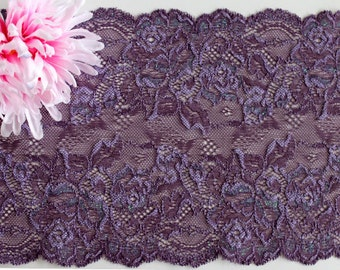 Stretch lace, stretch lace trim, narrow lace, lace, purple lace, lilac lace trim, narrow stretch lace, lace trim, galloon lace, lace yardage