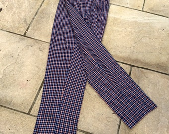 Vintage UK 18 US 14 EU46 high waist checked trousers, golf pants, Alice Collins