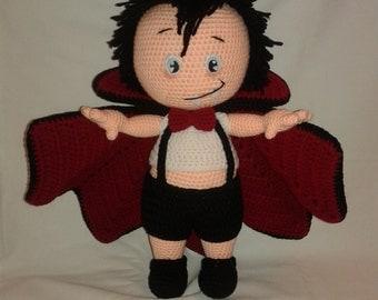 VLAD THE VAMPIRE - Crochet Doll - Crochet Amigurumi