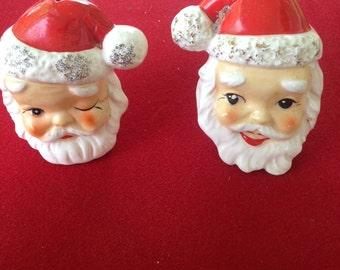 REDUCED! Vintage Santa Claus Head Salt and Pepper Shakers JAPAN