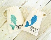 Mermaid Favor Bags   Mermaid Treats Bag   Mermaid Party Favors   Mermaid Birthday   Beach Wedding Favors   Beach Party   Mermaid Party Ideas
