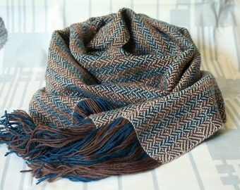 Chocolate blue scarf
