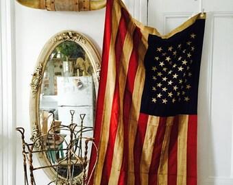 Tea Stain American Flag