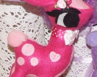 READY TO SHIP Handmade Felt Fawn Plush, Felt Bambi, Girls, Nursery Decor, Plushie Decoration, Room Decor, Birthday gift