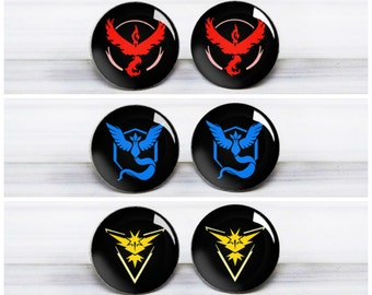 Pokemon Go Team Stud Earrings - Pokemon Earrings - Hypoallergenic Earrings for Sensitive Ears