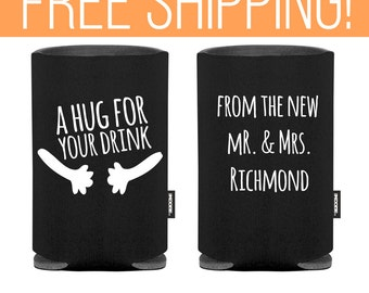 A Hug For Your Drink - Sweet Wedding KOOZIE® - Premium Quality - Free Shipping on all Custom Wedding Koozies® Personalized Koozies® (23)