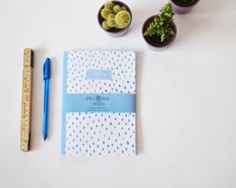 Blue Watercolour Dot Notebook A5