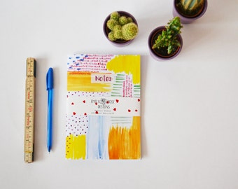 A5 Watercolour Abstract Notebook